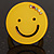Yellow Plastic Smiling Face Ring - view 3