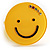 Yellow Plastic Smiling Face Ring - view 5
