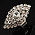 Dazzling Crystal Cocktail Ring (Clear&amp;Silver)
