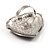 Oversized Vintage Heart Cocktail Ring (Antique Silver) - view 3