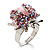Pink Crystal Ladybird Ring - view 2