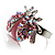Pink Crystal Ladybird Ring - view 8