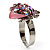 Pink Crystal Ladybird Ring - view 7