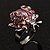 Pink Crystal Ladybird Ring
