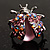 Pink Crystal Ladybird Ring - view 4
