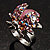Pink Crystal Ladybird Ring - view 5