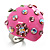 Pink Enamel Strawberry Ring - view 3
