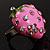 Pink Enamel Strawberry Ring - view 9