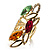 Multicolour Elongate Crystal Vintage Cocktail Ring