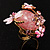 Exquisite Flower And Butterfly Cocktail Ring (Gold And Pale Pink) - view 8