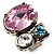 Bold Multicoloured Crystal Cluster Cocktail Ring - view 4