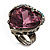 Pink Crystal Contemporary Heart Ring - view 5