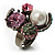 Luxurious Crystal Cluster Cocktail Ring (Multicoloured) - view 1