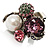 Luxurious Crystal Cluster Cocktail Ring (Multicoloured) - view 4