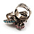 Luxurious Crystal Cluster Cocktail Ring (Multicoloured) - view 5