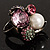 Luxurious Crystal Cluster Cocktail Ring (Multicoloured) - view 7