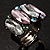 Multicoloured Oval-Cut Crystal Cocktail Ring - view 6