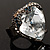 Ice Clear Crystal Contemporary Heart Ring - view 5
