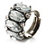 Clear Oval-Cut Crystal Cocktail Ring - view 6