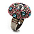 Multicoloured Crystal Dome Shaped Cocktail Ring - view 8