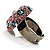 Multicoloured Crystal Dome Shaped Cocktail Ring - view 6