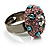 Multicoloured Crystal Dome Shaped Cocktail Ring - view 4