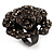 Sultry Crystal Rose Cocktail Ring (Black Tone) - view 3