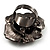 Sultry Crystal Rose Cocktail Ring (Black Tone) - view 6