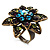 Bronze-Tone Crystal Flower Cocktail Ring (Multicoloured) - view 4