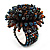 Multicoloured Glass Bead Flower Stretch Ring - view 4