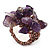 Lavender Semiprecious Chip Cluster Flex Ring