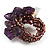 Lavender Semiprecious Chip Cluster Flex Ring - view 3