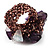 Lavender Semiprecious Chip Cluster Flex Ring - view 4