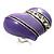 Lavender Enamel Diamante Asymmetrical Heart Ring (Silver Tone)