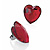 Large Red Acrylic Heart Cocktail Ring (Silver Tone) - view 6