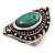 Burn Silver Hammered Turquoise Style Fashion Ring - view 7