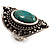 Burn Silver Hammered Turquoise Style Fashion Ring - view 9