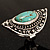 Burn Silver Hammered Turquoise Style Fashion Ring - view 4