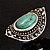 Burn Silver Hammered Turquoise Style Fashion Ring - view 11
