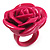 Magenta Chunky Resin Rose Ring - view 1