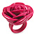 Magenta Chunky Resin Rose Ring - view 5