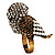 Stunning Vintage Simulated Pearl & Crystal Owl Ring (Antique Gold Tone) - view 6