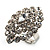 Rhodium Plated Clear Crystal Cocktail Ring