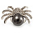 Swarovski Crystal Simulated Pearl Spider Ring (Silver Tone) - view 4