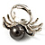 Swarovski Crystal Simulated Pearl Spider Ring (Silver Tone) - view 5