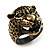 Vintage Bronze Tone &#039;Tiger&#039; Ring
