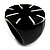 Black Resin Shell Inlay 'Stamp' Ring - view 3