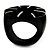 Black Resin Shell Inlay 'Stamp' Ring - view 8