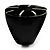 Black Resin Shell Inlay 'Stamp' Ring - view 5