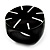 Black Resin Shell Inlay 'Stamp' Ring - view 9